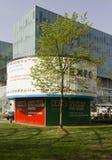 Expo 2015 promoting board inside Fiera Milano garden Stock Image