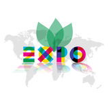Expo 2015 reflected Royalty Free Stock Image