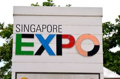Expo in Singapore Stock Photography
