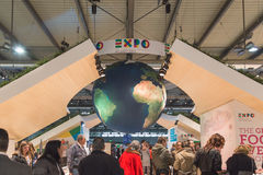 Expo stand at Bit 2015, international tourism exchange in Milan, Italy Stock Photography