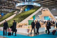 Expo 2015 stand at Bit Milan, Italy Royalty Free Stock Images