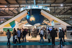 Expo 2015 stand at Bit Milan, Italy Royalty Free Stock Photography
