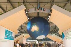 EXPO stojak przy kawałkiem 2015, międzynarodowa turystyki wymiana w Mediolan, Włochy Obraz Stock