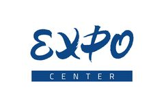 Expo text lettering vector inscription Stock Image