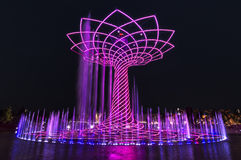 EXPO 2015 Tree of Life. The Tree of Life illuminated at night at EXPO 2015 in Milan, Italy royalty free stock photography