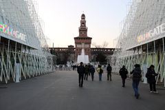 Expogate Milan, Milano expo2015 Obraz Stock