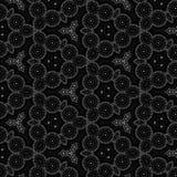 Expolosion preto e branco do fundo do teste padrão do caleidoscópio da mandala Imagem de Stock Royalty Free