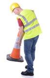 Expondo o cone do tráfego Imagem de Stock
