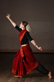 Exponent of Bharat Natyam dance Stock Image