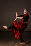 Exponent of  Bharatanatyam dance Stock Images