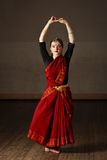 Exponent of  Bharatnatyam dance Stock Photos