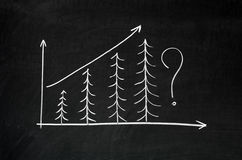 Exponential growth chart Stock Image