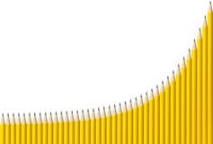 Exponentiale Diagramm-Bleistifte Lizenzfreie Stockbilder