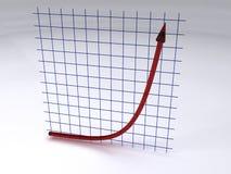 Exponentiales Wachstum Stockfotos