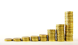 Exponentiales Wachstum des Goldes Lizenzfreies Stockfoto