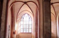 Exponerade stained-glassfönster Fotografering för Bildbyråer