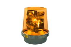 exponerande lampa - yellow Arkivbild