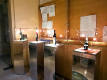 Exponering av italienska viner Arkivfoton