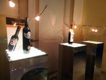 Exponering av italienska viner Arkivbilder