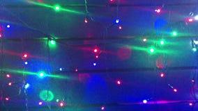 exponering Julgrangirlander Landskap med att glöda, blinkande ljus Dynamiskt rörelselängd i fot räknat Feriefilm arkivfilmer