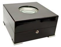 exponeringsglasöverkant för svart ask Royaltyfri Bild