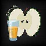 Exponeringsglas av äppelmust vektor illustrationer