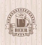 Exponeringsglas av öl stock illustrationer