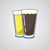 Exponeringsglas av öl Royaltyfri Fotografi