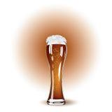 Exponeringsglas av öl- och vitskum Royaltyfria Foton