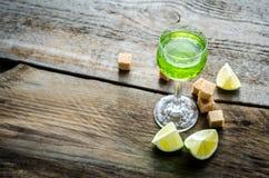 Exponeringsglas av absint Fotografering för Bildbyråer
