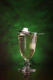 Exponeringsglas av absinthe Royaltyfria Bilder