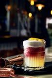 Exponeringsglas av alkohol Arkivfoton