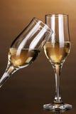 Exponeringsglas av champagne Royaltyfri Fotografi