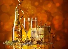 Exponeringsglas av champagne Royaltyfri Foto