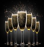 Exponeringsglas av champagne Arkivbild