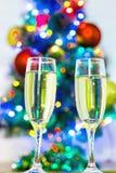 Exponeringsglas av champagne. Royaltyfria Bilder