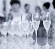 Exponeringsglas av champagnecoctailmottagandet Arkivbilder