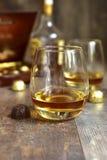 Exponeringsglas av cognacen Fotografering för Bildbyråer