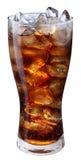 Exponeringsglas av cola med iskuber Royaltyfri Bild
