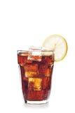 Exponeringsglas av coladrinken Arkivbilder