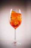 Exponeringsglas av den exotiska drinken som vin-baseras Royaltyfri Bild