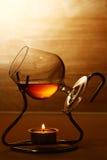 Exponeringsglas av den varma cognacen Royaltyfria Bilder