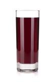 Exponeringsglas av druvafruktsaft Royaltyfria Foton
