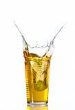 Exponeringsglas av druvafruktsaft Fotografering för Bildbyråer