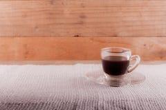 Exponeringsglas av espresso Arkivbild