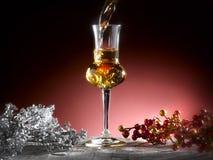 Exponeringsglas av grappa Royaltyfria Foton