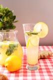 Exponeringsglas av hemlagad lemonad Arkivbilder