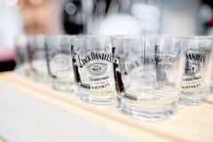 Exponeringsglas av Jack Daniels fotografering för bildbyråer