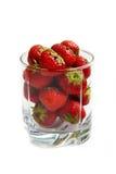 Exponeringsglas av jordgubben Arkivbilder