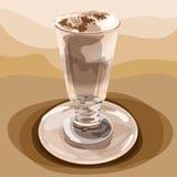 Exponeringsglas av kaffeLatte Arkivfoton